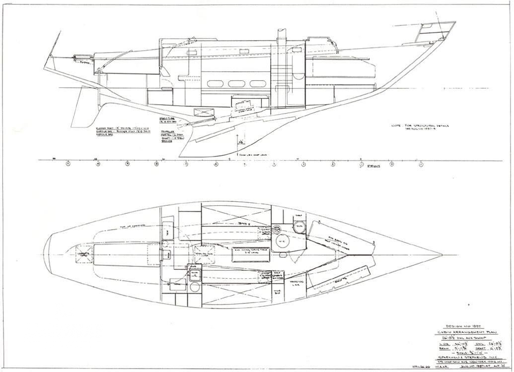 Sparkman Amp Stephens 37 Ft Sloop 1966 Sandeman Yacht Company