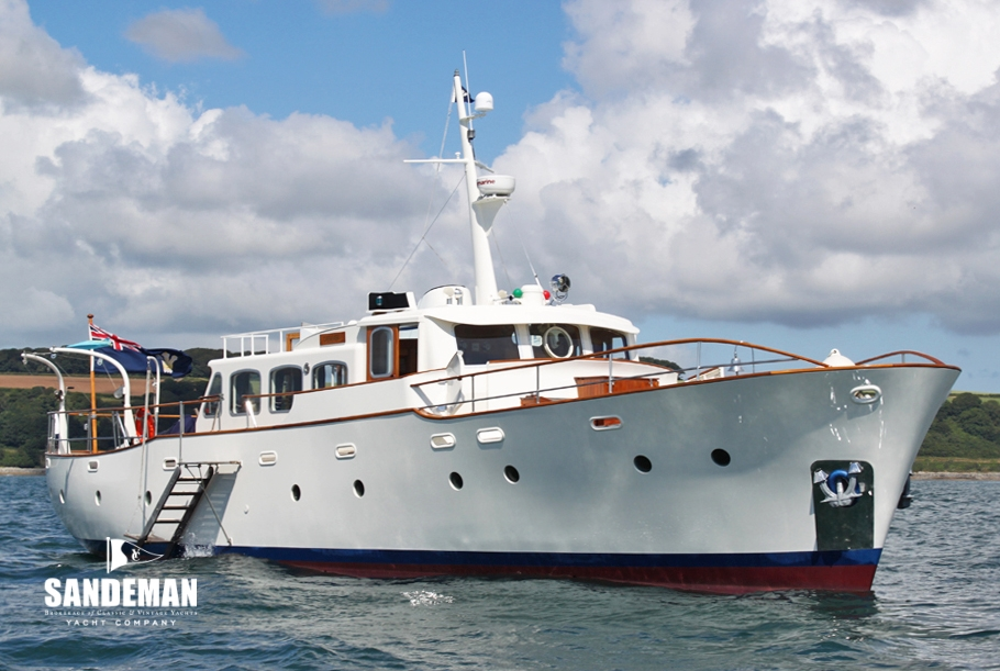 Fred parker 63 ft tsdy 1963 sandeman yacht company for Vintage motor yachts for sale