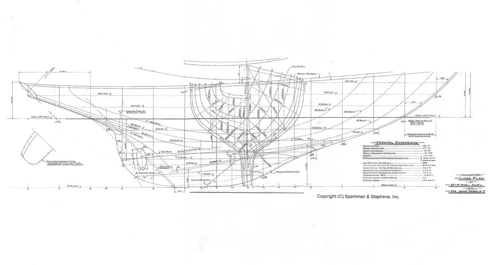 sparkman  u0026 stephens 39 ft sloop 1961