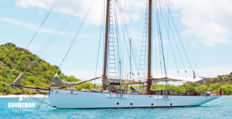 Fred shepherd 80 ft gaff schooner 1902 sandeman yacht for 68 garden design gaff rigged schooner